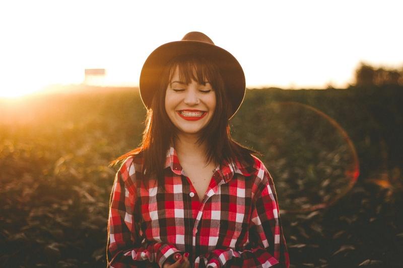 Portrét při západu slunce.