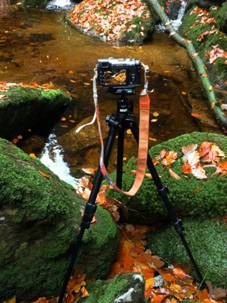 Fotografování vody v Jizerských horách.