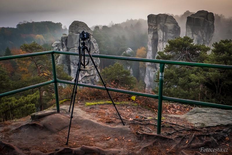 Fotografování východu slunce na Hruboskalsku.