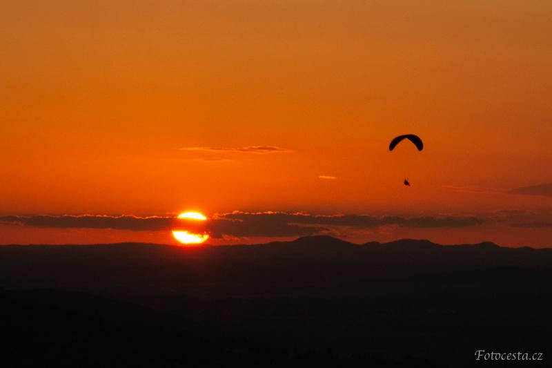 Západ slunce z Kozákova.