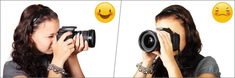 Jak držet fotoaparát.