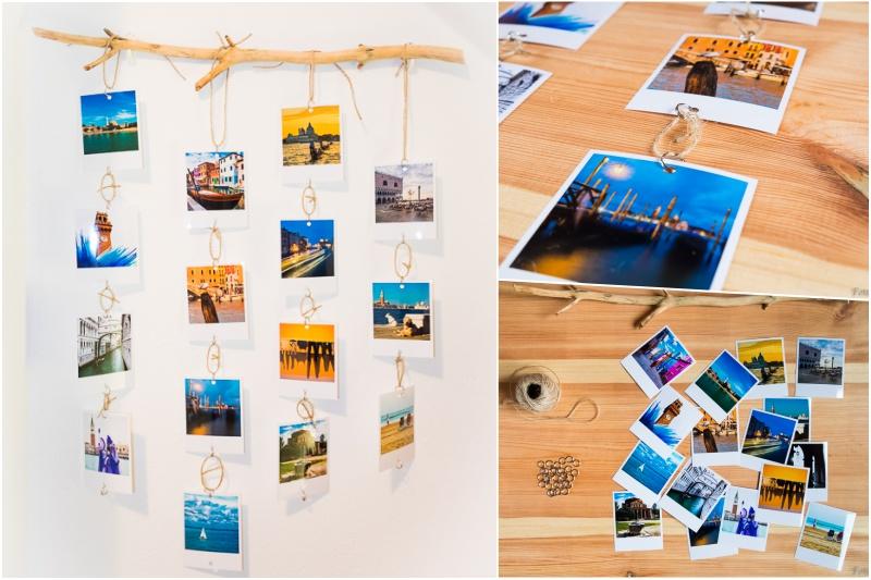 Dřevěný držák na fotky.