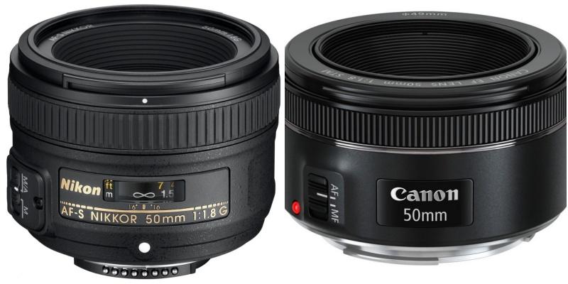 50mm objektiv Canon.
