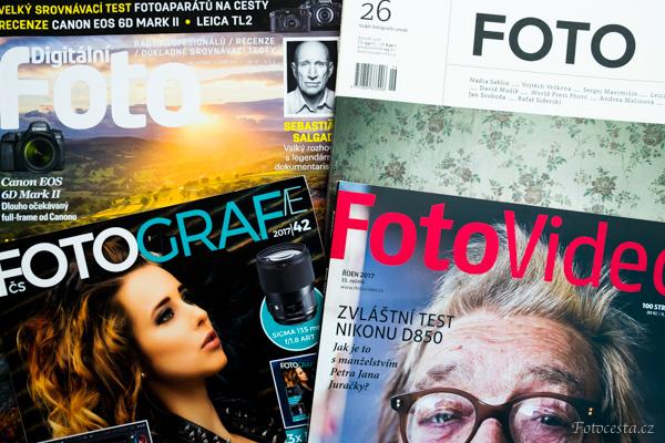 Časopisy o focení.