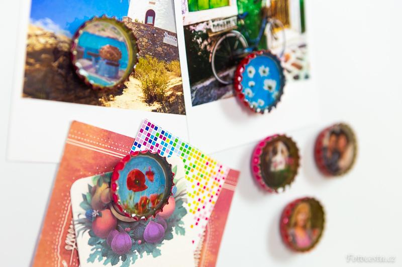 Magnetky z vlastní fotky.