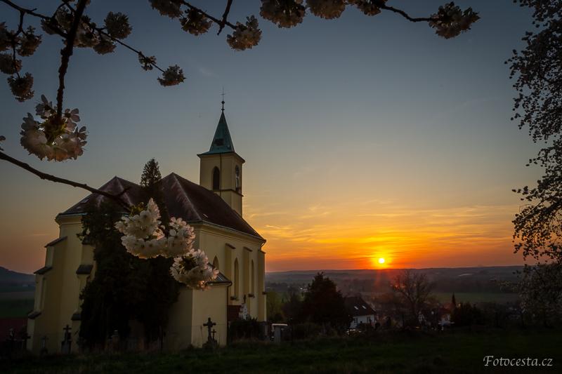 Západ slunce na Všeni.