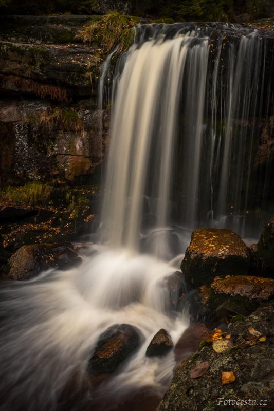 Vodopády Jedlová v Jizerských horách.