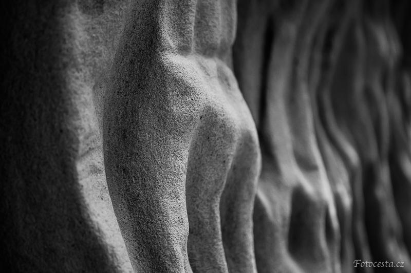 Detail reliéfu skály.