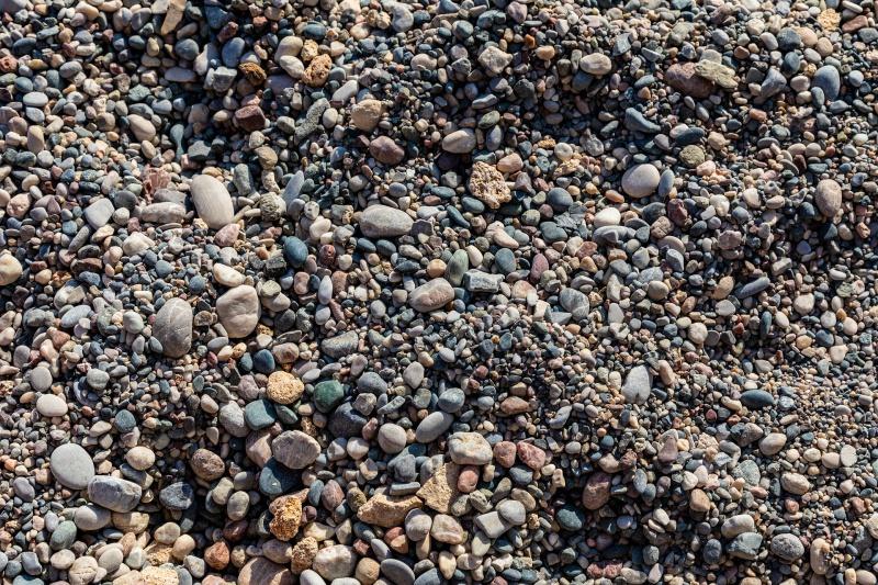 Textura kamínků.