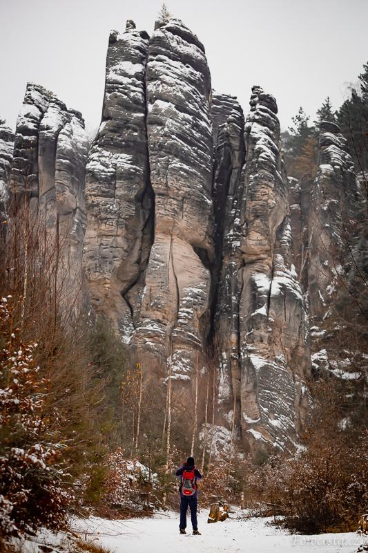 Zima v Prachovských skalách.
