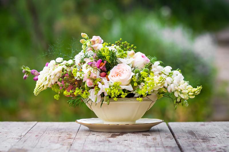 Vázané kytice.